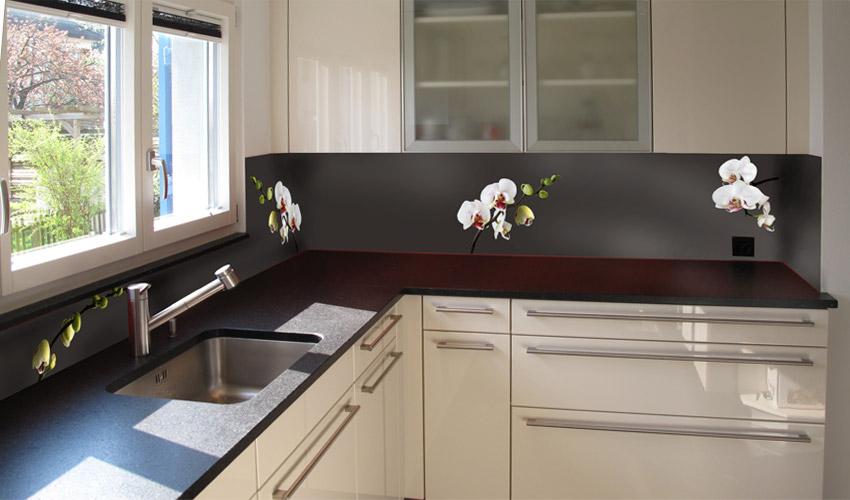 Küche glasrückwand küche schwarz Glasrückwand Küche or