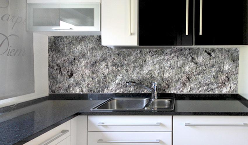 Steinwand kuche for Steinwand deko
